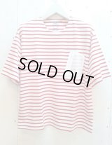 ★SALE 20%OFF★MR.EVERYDAY'S(ミスターエブリデイズ)by KIIT(キート)BIG BORDER T-SHIRTS MR.E-T005(RED)