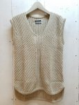 画像1: KIIT(キート) C / SI NEP YARN V-NECK KNIT VEST KIC-K98-014 (NAT) (1)