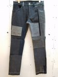 画像1: children of the discordance(チルドレンオブザディスコーダンス)VINTAGE PATCH DENIM PANTS COTDPT-003(BLK) (1)