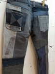 画像3: children of the discordance(チルドレンオブザディスコーダンス)VINTAGE PATCH DENIM PANTS COTDPT-003(BLK) (3)