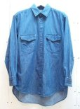 画像1: KIIT(キート) 6OZ DENIM BIG SHIRTS KIA-B95-007  (1)