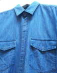 画像2: KIIT(キート) 6OZ DENIM BIG SHIRTS KIA-B95-007  (2)