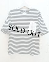 ★SALE 20%OFF★MR.EVERYDAY'S(ミスターエブリデイズ)by KIIT(キート)BIG BORDER T-SHIRTS MR.E-T005(BLK)