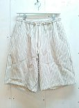 画像1: ★SALE 30%OFF★KIIT(キート) C/L STRIPE BIG SHORTS KIA-P92-301(WHT.ST)  (1)