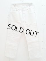 children of the discordance(チルドレンオブザディスコーダンス) OLD PATCH DENIM PANTS COTDPT-001(WHT)