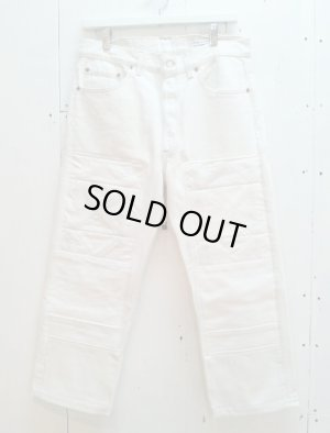 画像1: children of the discordance(チルドレンオブザディスコーダンス) OLD PATCH DENIM PANTS COTDPT-001(WHT)