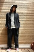 画像4: KIIT(キート)POWDER WOOL MELTON WIDE TROUSERS KIB-98-102(BLK)