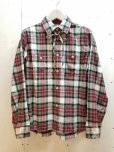 画像1: NuGgETS(ナゲッツ) WORK SHIRT NUG-010-16AW(RED) (1)