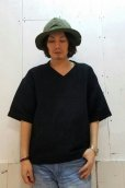 画像4: KIIT(キート) PAPER KNIT V-NECK TOPS KIC-T99-801(BLK) (4)