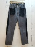 画像1: children of the discordance(チルドレンオブザディスコーダンス) FRINGE DENIM PANTS COTDPT-008(BLK) (1)