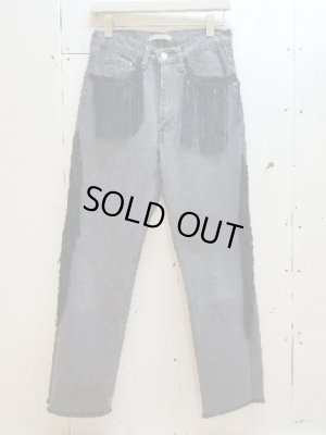 画像1: children of the discordance(チルドレンオブザディスコーダンス) FRINGE DENIM PANTS COTDPT-008(BLK)