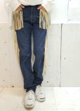 画像4: ★SALE 50%OFF★children of the discordance(チルドレンオブザディスコーダンス) FRINGE DENIM PANTS COTDPT-008(BLUE.A) (4)