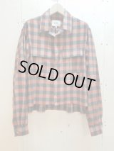 NuGgETS(ナゲッツ) OPEN-NECKED SHIRT-FLANNEL NUG009A7(RED)