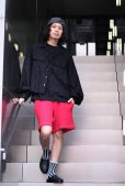画像6: REBEL ELEMENTS別注 KIIT(キート)  BIG WAFFULE SHORT PANTS KIC-P83-021(RED)