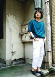 画像7: children of the discordance(チルドレンオブザディスコーダンス) OLD PATCH DENIM PANTS COTDPT-001(WHT) (7)