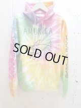 "NuGgETS(ナゲッツ) NuGgETEE(ナゲッティ)""AMERICA""HOODED PARKA - TIE DYEING NUGTEPT02B7"