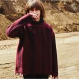 画像4: KIIT(キート) STRIPE JAQUERD LOOSE KNIT KID-K90-107 (WINE) (4)