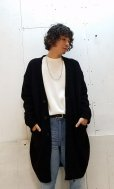 画像5: KIIT(キート) BOUCLE LONG KNIT CARDIGAN KID-K92-108(BLK)