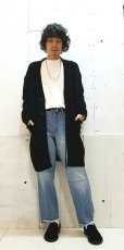 画像6: KIIT(キート) BOUCLE LONG KNIT CARDIGAN KID-K92-108(BLK)