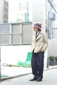 画像9: KIIT(キート) W FACE MELTON OVERSIZED SHORT P-COAT (BGE X BRN)