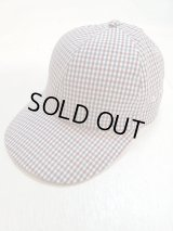 ★SALE40%OFF★KIIT(キート) × MASACA HAT(マサカハット)COLLABOLATION COTTON / LINEN /SILK GUNCLUB CHECK CAP KIE-A90-100