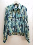 画像1: NuGgETS(ナゲッツ) OPEN-NECKED SHIRT -Crepe de Chine- NUG008A8(GRN) (1)