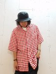画像5: NuGgETS(ナゲッツ)  OPEN-NECKED S/S -CHECK- (RED) NuGN007A8