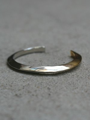 画像1: ACE by morizane(エースバイモリザネ) triangle thin cuff antique silver 18k gold plated SN900301ASGP