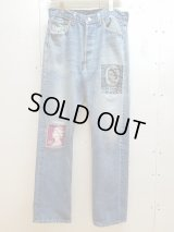 children of the discordance(チルドレンオブザディスコーダンス) VINTAGE EMBROIDERY DENIM PANTS COTDPT-322A(BLU)