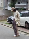 画像9: children of the discordance(チルドレンオブザディスコーダンス) JAPANESE STRIPE TUCK TROUSERS COTDPT-319