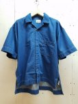 画像1: KIIT(キート)  7OZ DENIM S/SLEEVE SLIT SHIRT KIG-B97A-006   (1)