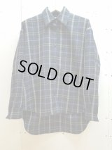 KIIT(キート)-UNISEX LINE-PURE WOOL CHECK OVER SHIRT KIH-B95W-101(NVY)