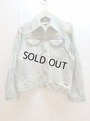 画像1: SUGARHILL(シュガーヒル)CRUSHED DENIM JACKET 19AWJK03