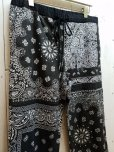 画像2: children of the discordance(チルドレンオブザディスコーダンス) VINTAGE BANDANA PATCH PANTS COTDPT-332(BLK)